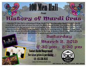x - The History of Mardi Gras at the 100 Men Hall
