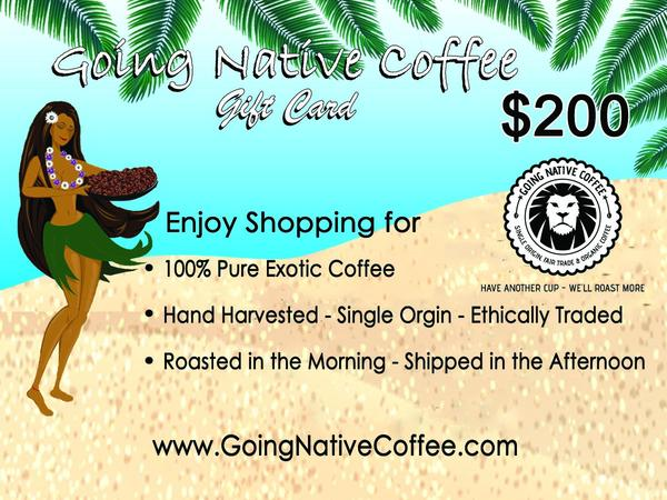 $200 Going Native Gift Card