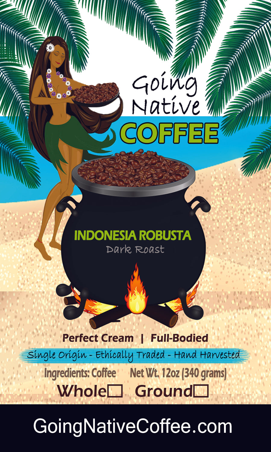 Indonesia Robusta AP-1 Grade-1 Extra Large Bean Subscription - Going Native Coffee Club