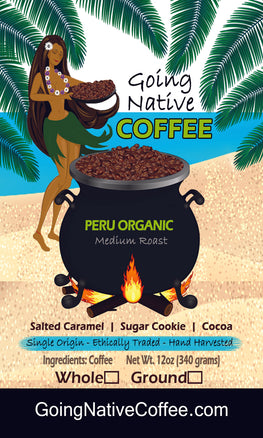 Peru Fair Trade Organic Coffee - Going Native Coffee Club