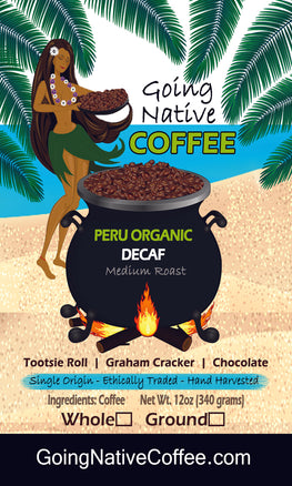 Peru Organic Swiss Water Decaf - Going Native Coffee Club