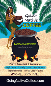 Tanzania Reserve Coffee Beans - Mutwari AB Washed - Going Native Coffee Club