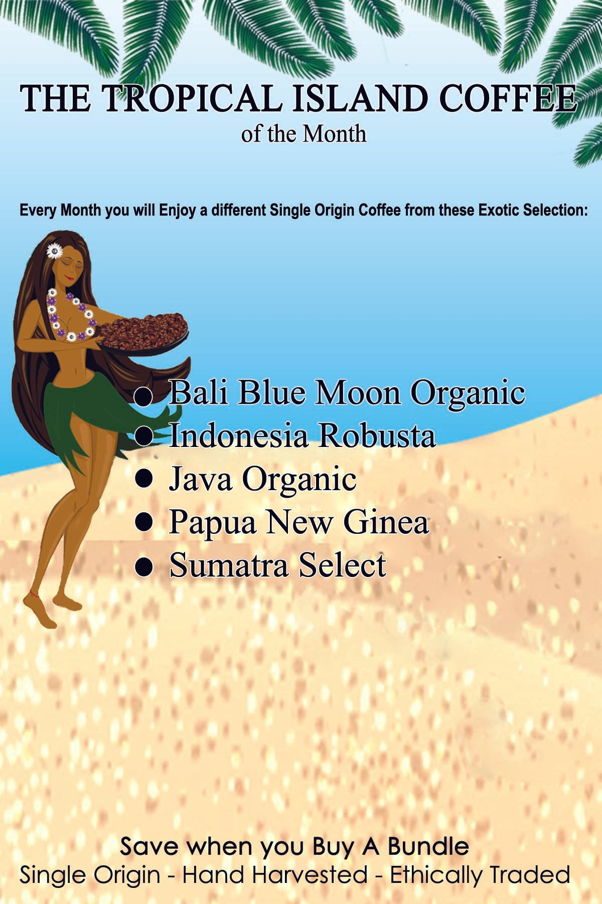 Coffee of The Month Club - The Tropical Islands Collection Subscription - Going Native Coffee Club