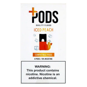PLUS PODS Iced Peach (4-PACK)
