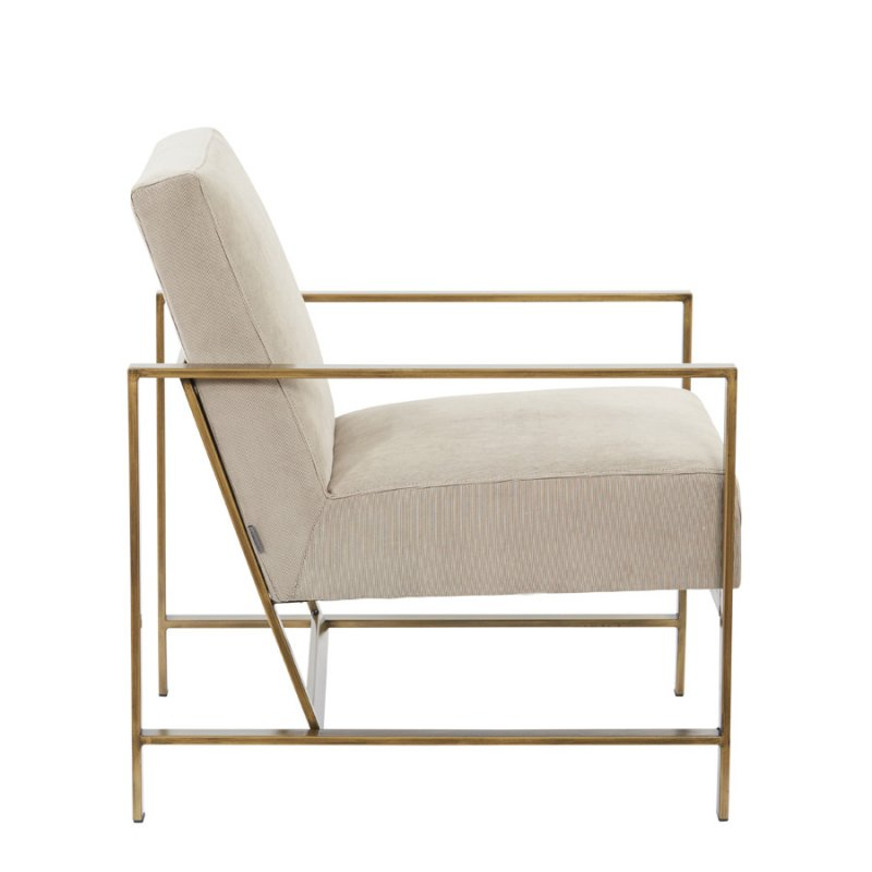 Blaise Occasional Chair beige side view
