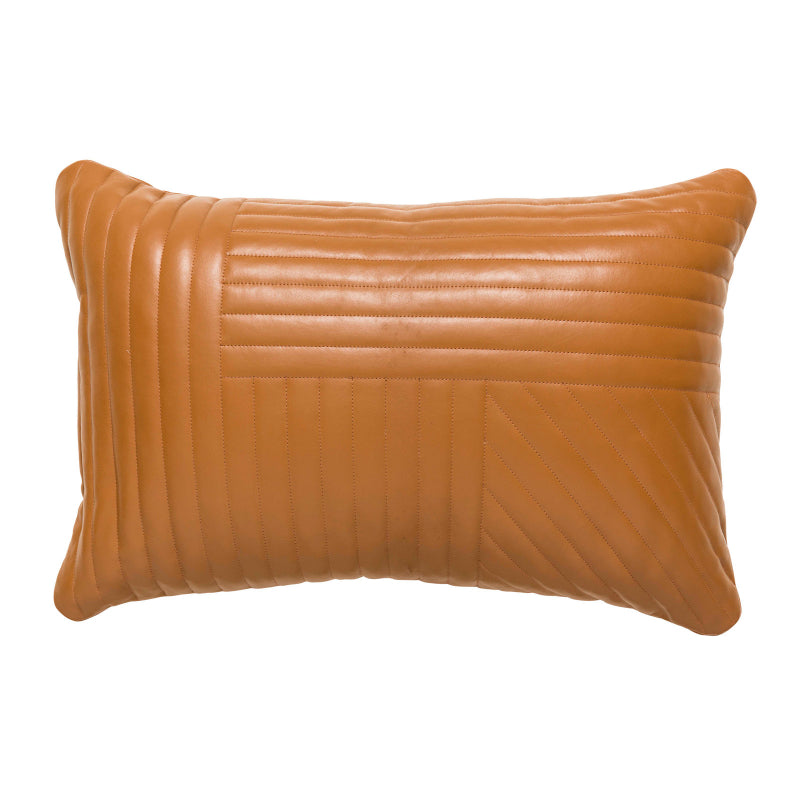 Ebony Leather Cushion colour tan