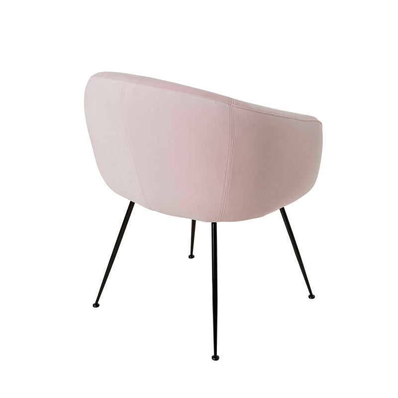 Clarissa Dining Chair colour dusty pink back