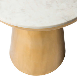 Dale Marble Side Table marble detail