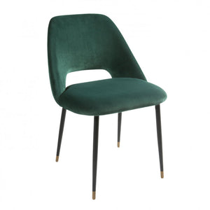 Germain Dining Chair emerald side