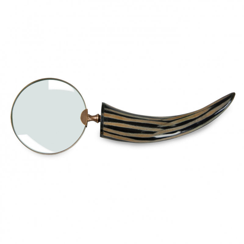 Stripe Horn Magnifying Glass