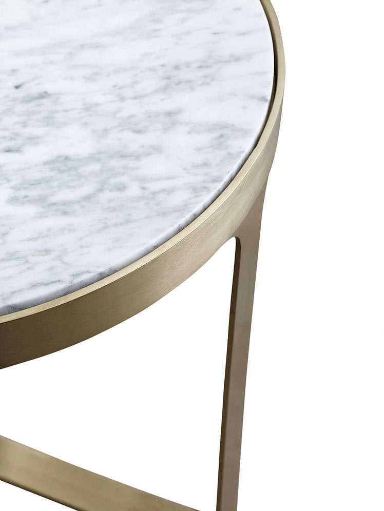 Julius Marble Coffee Table gold detail