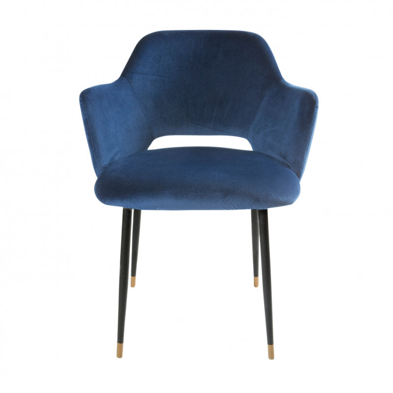 Germain Carver Chair royal blue