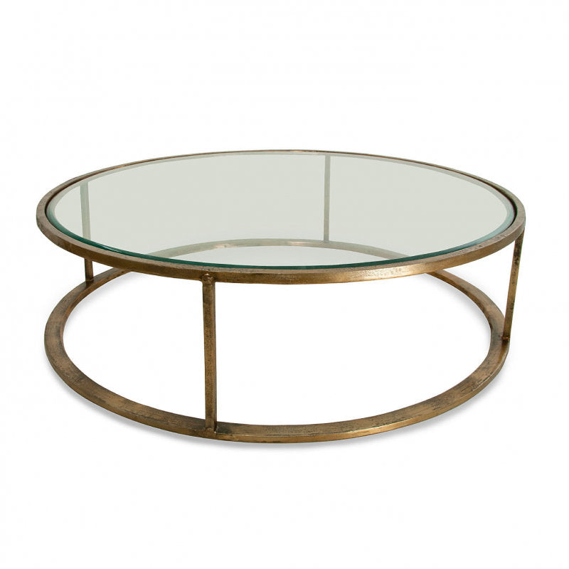 Belmond Coffee Table brass with glass top