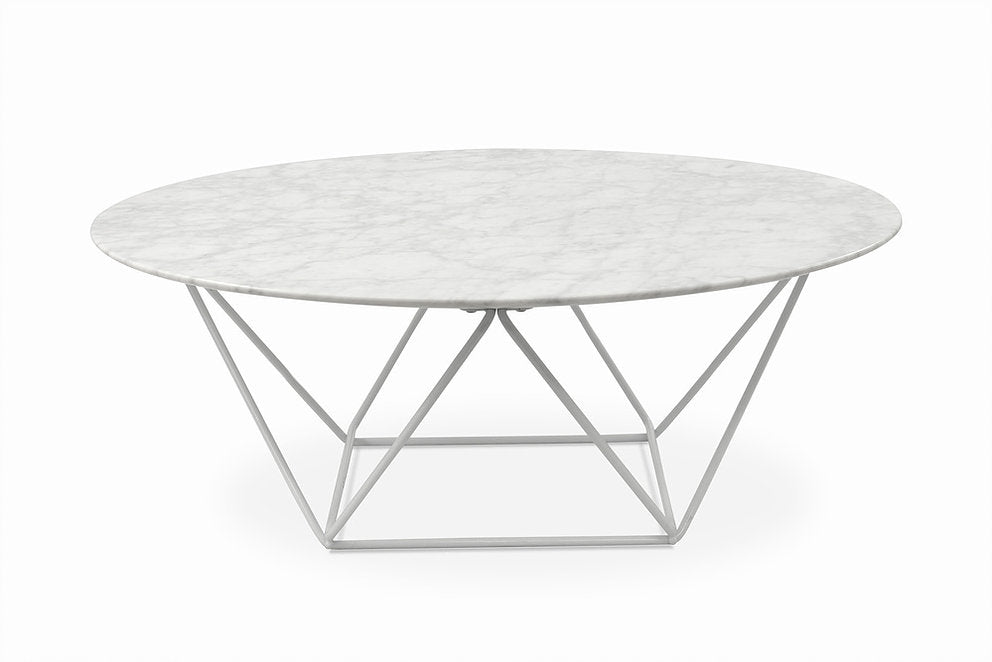 Connor Marble Coffee Table white frame leg