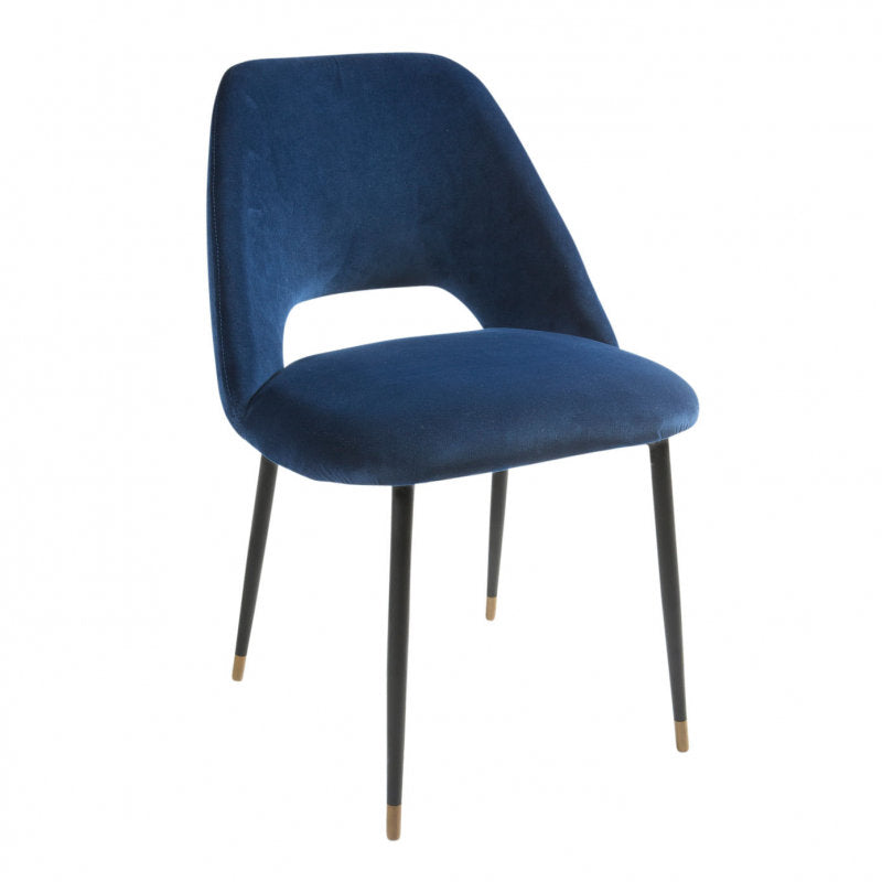 Germain Dining Chair royal blue side