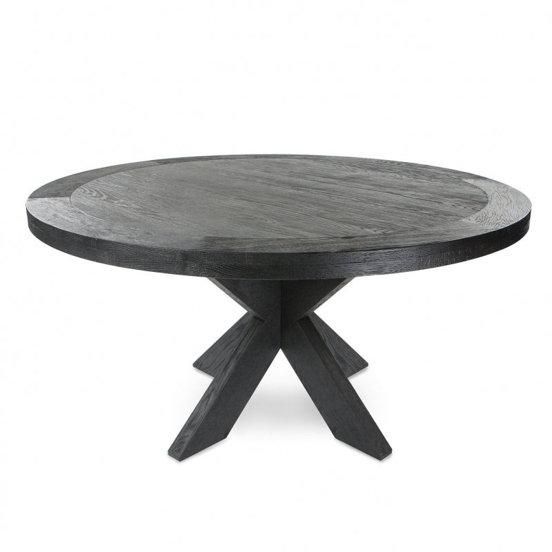 Berkley Dining Table round dark timber