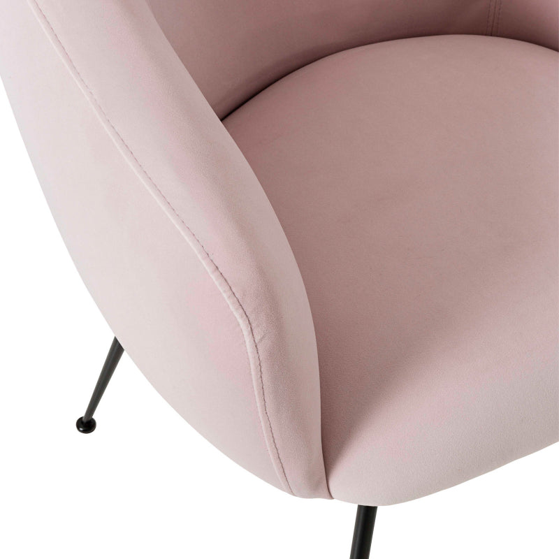 Clarissa Dining Chair colour dusty pink detail
