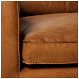 Gaspard Leather Sofa detail