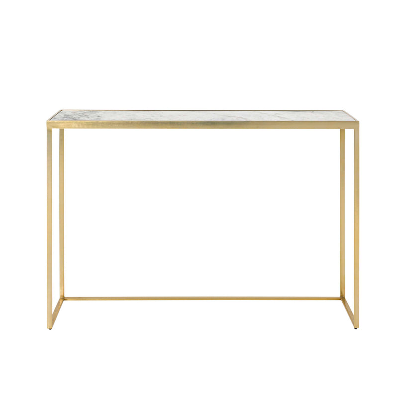 Anya Console marble top and brass frame
