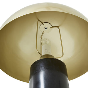 Aphra Table Lamp black base gold shade