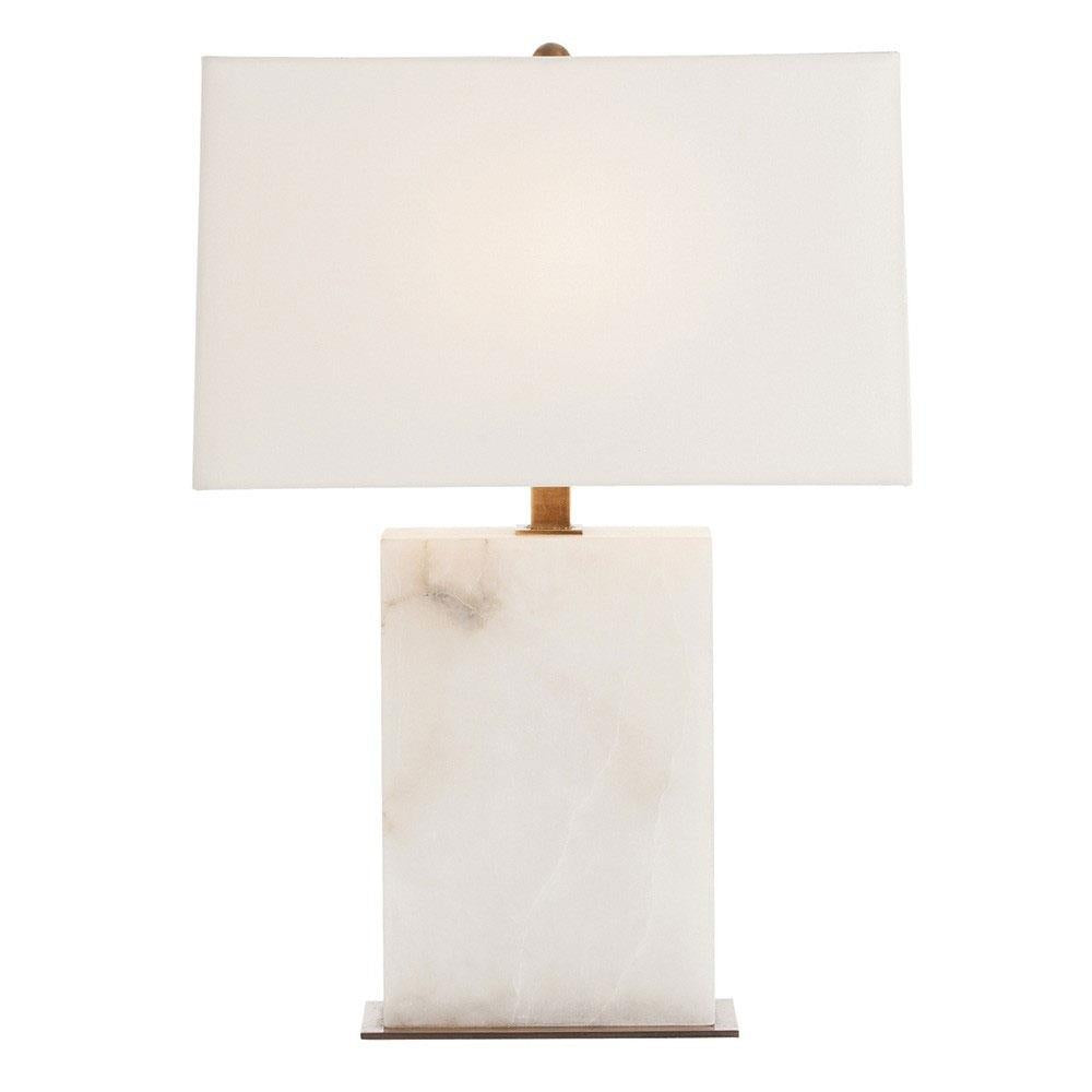 Carson Table Lamp white marble base