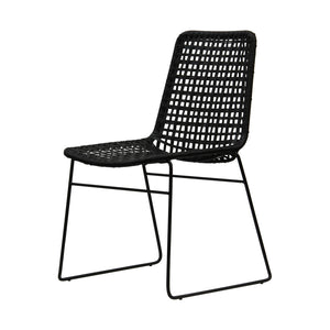 Bella Loom Dining Chair black woven cord