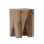 Logan Stool natural teak side
