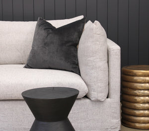 Ella 2 Seat Sofa with cushion and side tables
