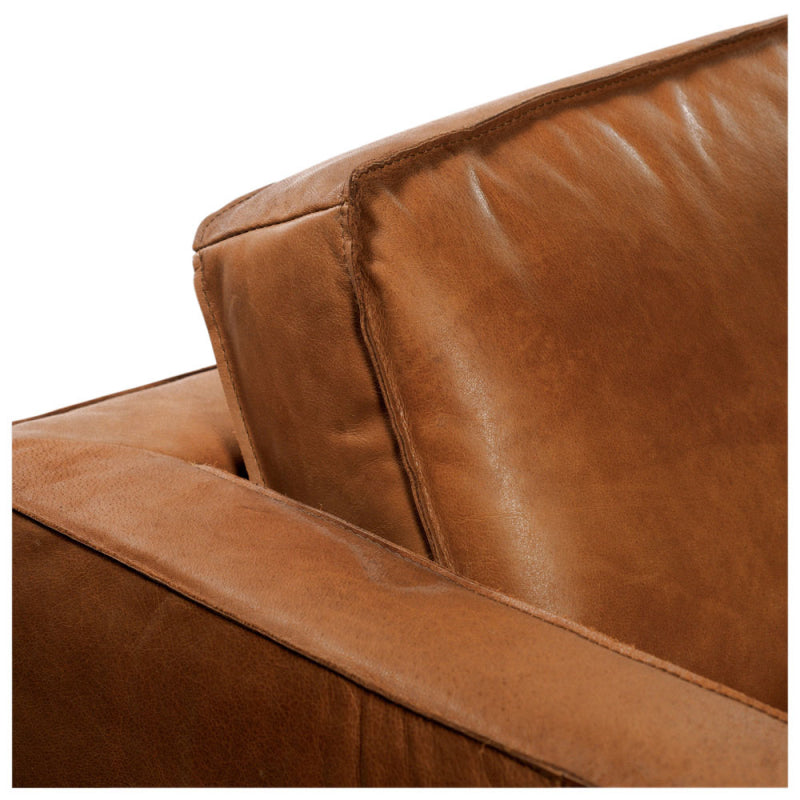 Gaspard Leather Sofa back cushion