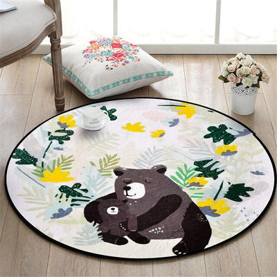 tapis ours brun