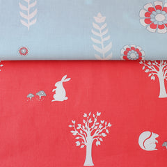 Little Girl Bag - Apricot Woodlands fabric