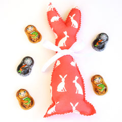 Easter Bunny Softie - Apricot Rabbit fabric