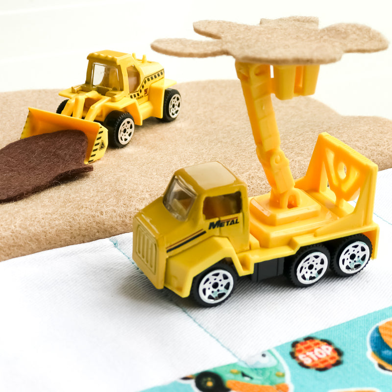 Construction Playmat - Aqua Truck fabric
