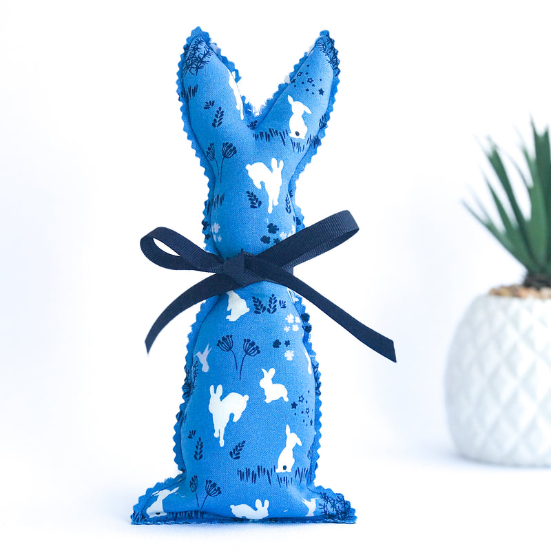 Easter Bunny Softie - Blue Rabbit fabric