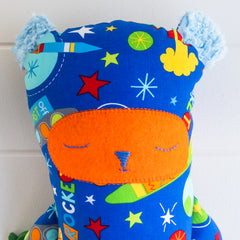 Peg Bear - Space fabric