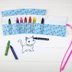 Crayon Wrap - Cat fabric