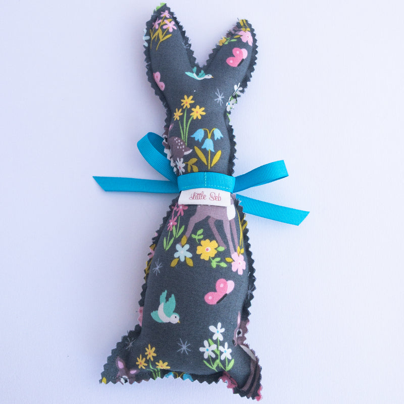 Easter Bunny Softie - Deer in Meadow fabric