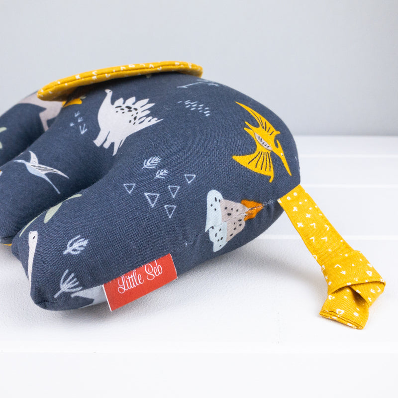 Elephant Softie, large - Dinosaur fabric