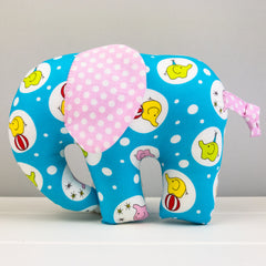 Elephant Softie, large - Circus Elephants fabric