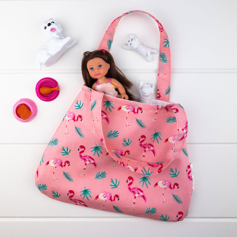 Little Girl Bag - Flamingo fabric