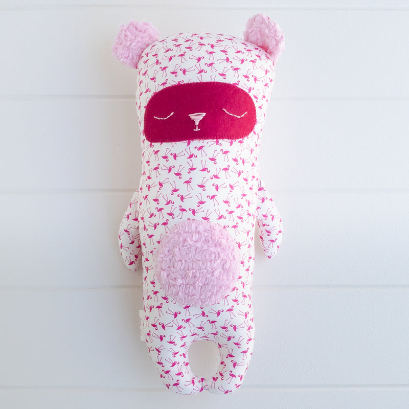 Peg Bear - Flamingo fabric
