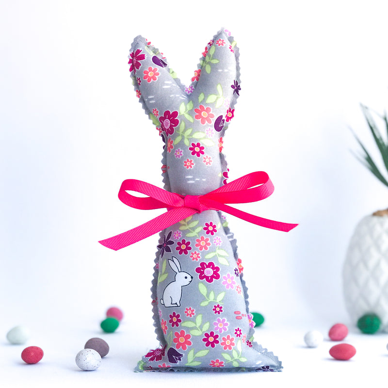 Easter Bunny Softie - Bunnies in the Meadow fabric