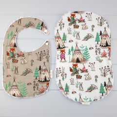 Baby Girl Gift Set - Camping Foxes fabric