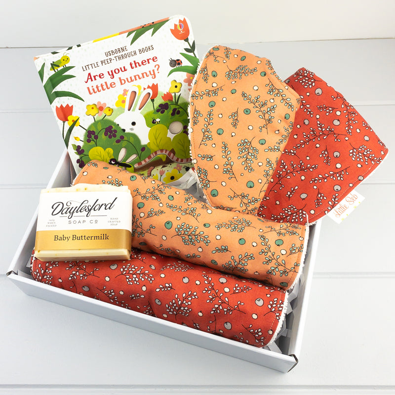 Baby Girl Gift Set - Apricot Berries fabric