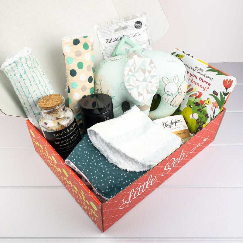 Bunnies - neutral baby gift hamper