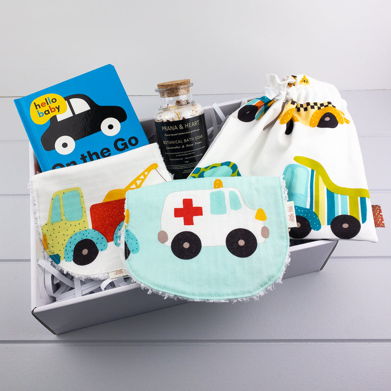 Baby Boy Gift Set - Vehicles fabric
