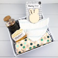 Neutral Baby Gift Set - Bunnies fabric