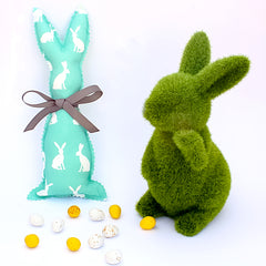 Easter Bunny Softie - Mint Rabbit fabric