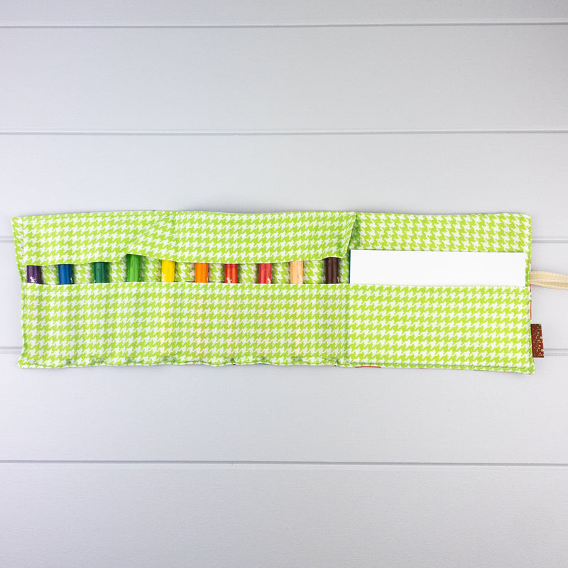 Crayon Wrap - Apple House fabric