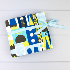 Crayon Wrap - Block Castle fabric